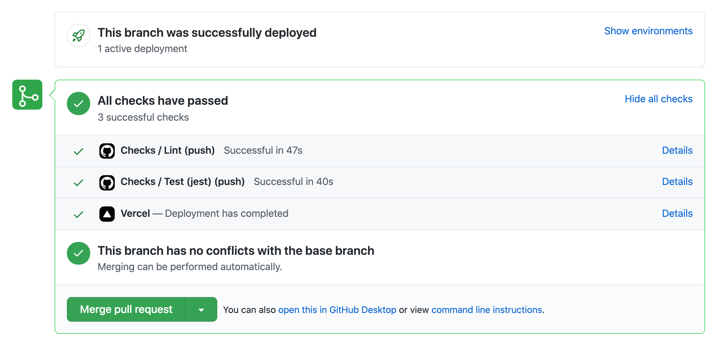Passing GitHub Action Workflows with a successful build on a PR